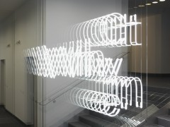 <p>Brigitte Kowanz, whywhatwhen – site specific light installation for entrance of LGP attorneys, realisation April 2013 (percept: no/ever design) photography by tobias pilz</p>