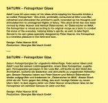 Saturn Feinspritzer Text