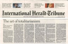 <p>International Herald Tribune – The art of totalitarianism, 17 August 2010 (1/2) – © archive peter noever</p>