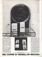 "<p>Article in ""domus"", Milano, 12/1972 (page 1) — © archive peter noever</p>"