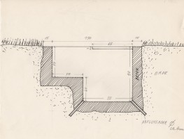 "<p>Walter Pichler, design for ""Die Sitzgruben"" at ""The Pit"" (1970) – © archive Peter Noever</p>"