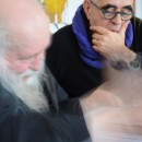 <p><strong>HERMANN NITSCH</strong> and Peter Noever in Prinzendorf (Photo: Elisabeth Noever-Ginthör) archive peter noever</p>