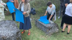 "<p>Script for performative intervention ""Sea of Tranquility"" by Nicole Six/Paul Petritsch – Heritage Day 2019 at ""The Pit"", Breitenbrunn, Burgenland, Austria (photo: felix kofler) – archive peter noever</p>"
