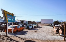 <p>The Bombay Beach Drive In art installation / Bombay Beach Biennale  — Photo by Ian Anderson</p>