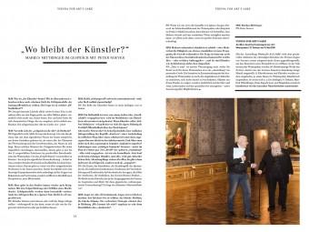 "Interview with Peter Noever in ""Belvedere-Magazin"" (© Belvedere, Wien) – archive peter noever"