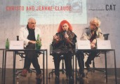 "<p><span>CAT – Contemporary Art Tower, Vienna – Peter Noever, Jeanne-Claude, CHRISTO in 2007 at the CAT, presenting a stamp series ""Wrapped Flak Tower"" and ""The 21st Century Collection"" for the Austrian Post – ""A place for war should become a place for art!""</span></p>"