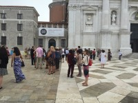 <p>Visitors at the opening of Imago Mundi – Luciano Benetton Collection at <span>Fondazione Cini, </span><span>Isola San Giorgio Maggiore, Venice</span></p>
