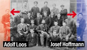 School class of Adolf Loos and Josef Hoffmann (archive peter noever)