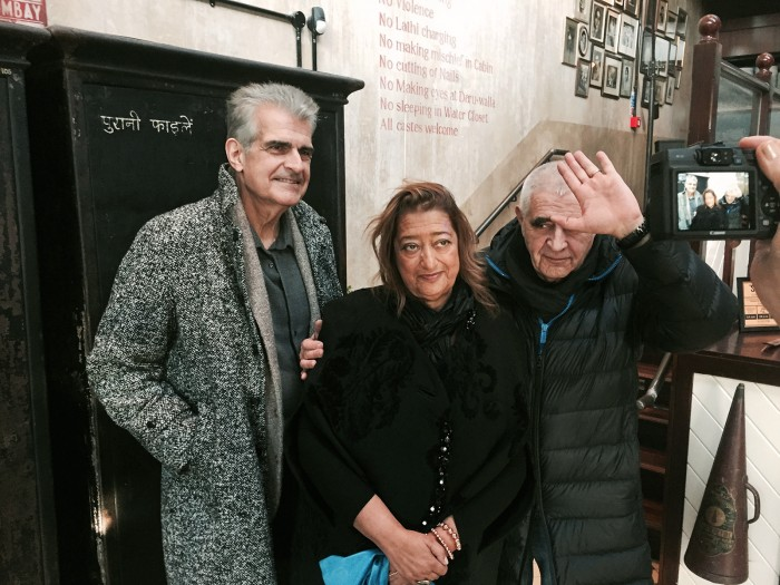 Joseph Giovannini, Zaha Hadid, Peter Noever. London, 4 February 2016 (Photo: Cathy Leff)