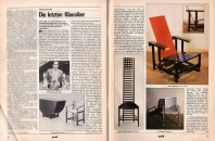 <p>Article on milestones. (At Selection 66, 1966 Peter Noever showed - for the first time in Austria - a variety of chairs that were important in the history of modern architecture, including works by Le Corbusier, Marcel Breuer, and others.) - Profil Nr. 1, 1978 Vienna - archive peter noever</p>