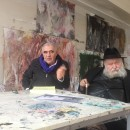 <p>Peter Noever, <strong>HERMANN NITSCH</strong> – interview recording at Academy of Fine Arts, Kolbermoor, Germany – © archive peter noever</p>