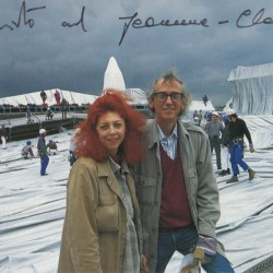 Christo and Jeanne-Claude in Berlin, 1995 (photo: Wolfgang Volz, Düsseldorf)