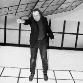 Vito Acconci at his exhibition at the MAK Vienna in 1993