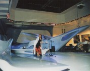 "<p>Zaha Hadid giving a lecture at the exhibition ""ZAHA HADID. Architecture / Ice-Storm"" (© archive peter noever)</p>"